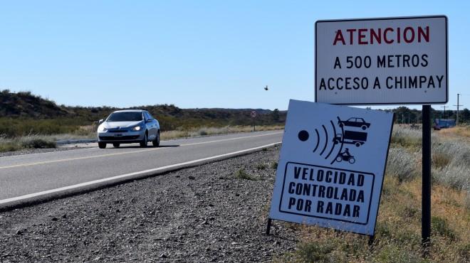 El radar ubicado a la altura de Chimpay está en carácter PREVENTIVO. Las multas quedarán sin efecto