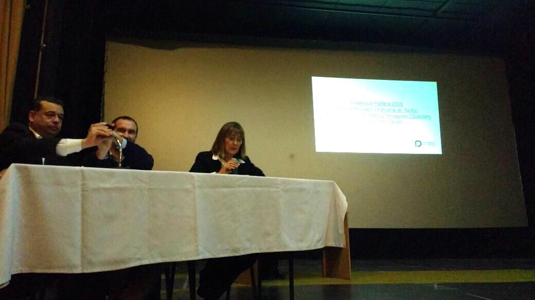 Santagati expuso en la audiencia pública por la Revisión Tarifaria del agua.