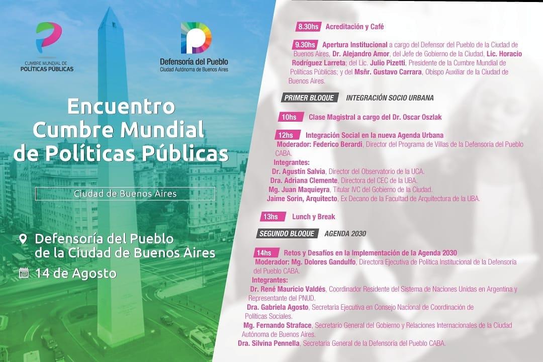 Santagati asiste hoy a la Cumbre Mundial de Políticas Públicas: Encuentro CABA