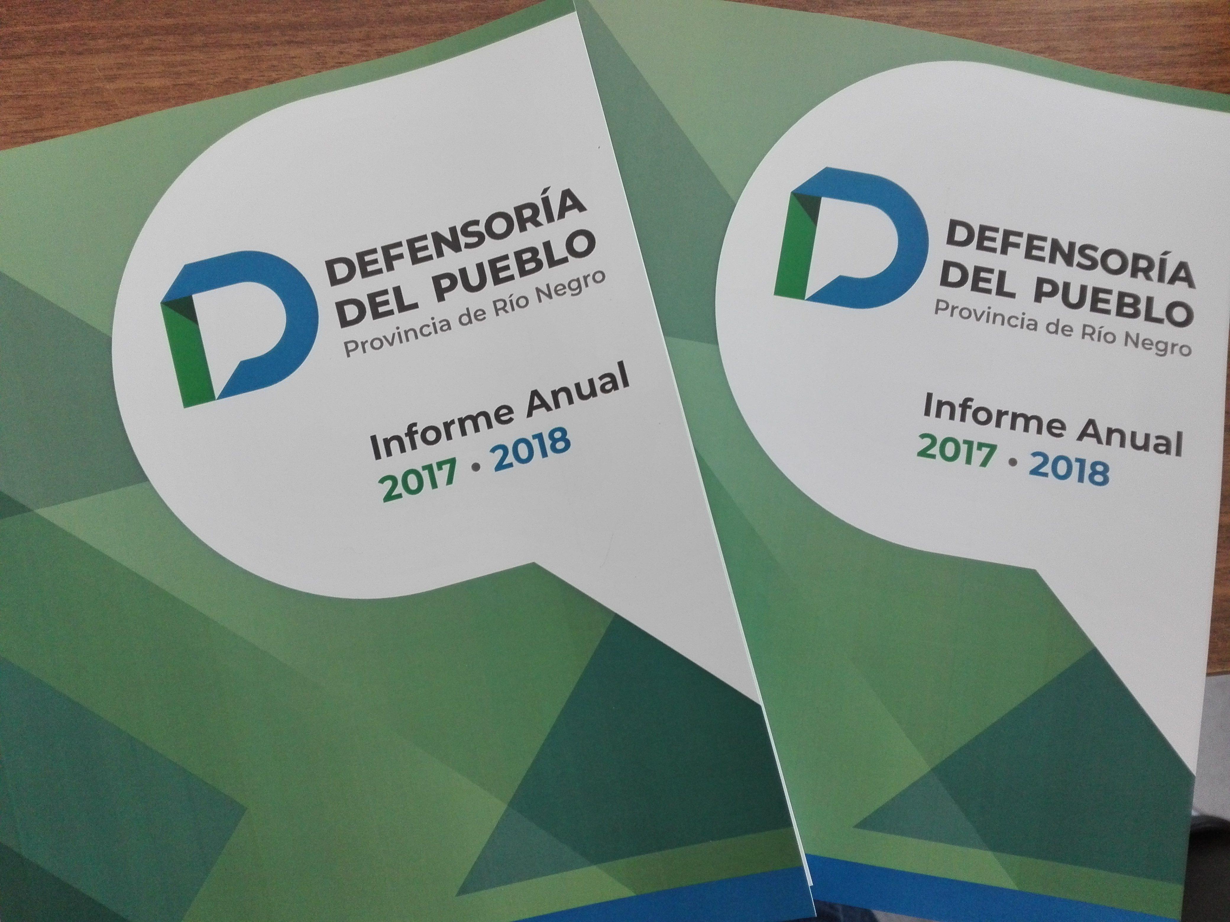 La Defensoría del Pueblo presentó ante la Legislatura de Río Negro el Informe Anual 2017-2018