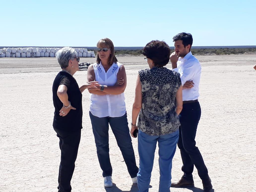 Santagati participó en la inspección de los trabajos de remediación de plomo realizados  en Mancha Blanca