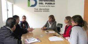 Reunion Defensoria del pueblo con Delegado de Valle Inferior y funcionarios