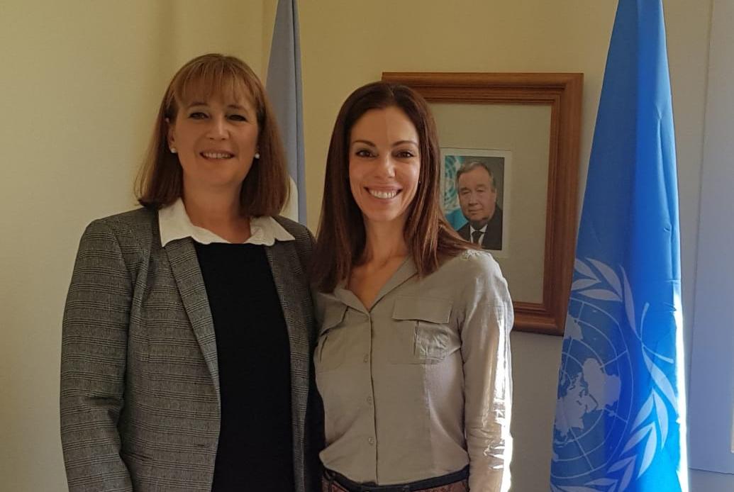 Reunión con la directora del Centro de Información de Naciones Unidas para Argentina y Uruguay. En el marco de las estrategias de promoción de la Agenda 2030