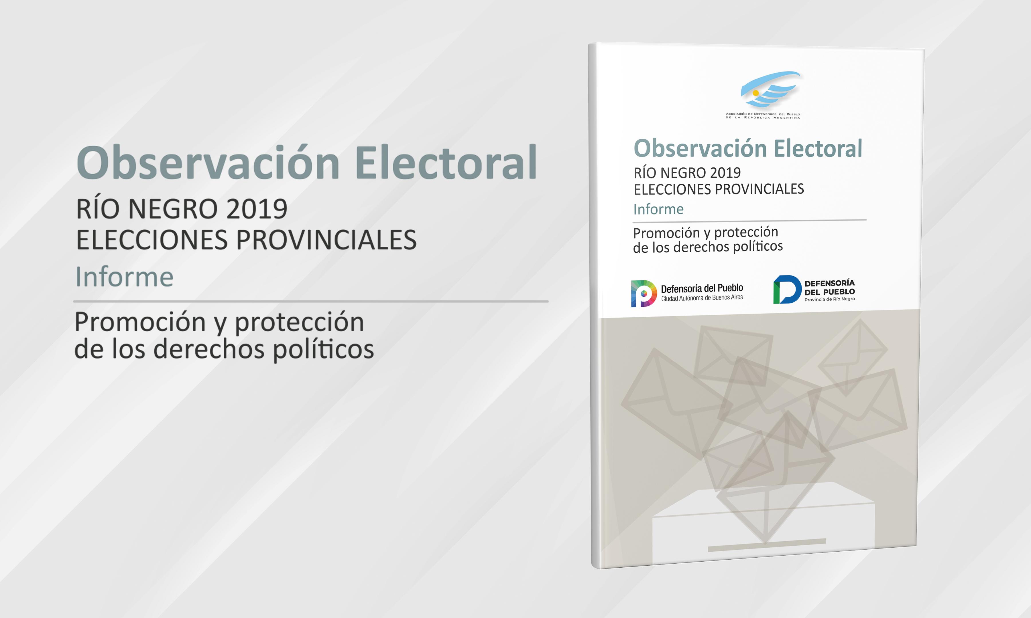 Informe Observación Electoral Provincial