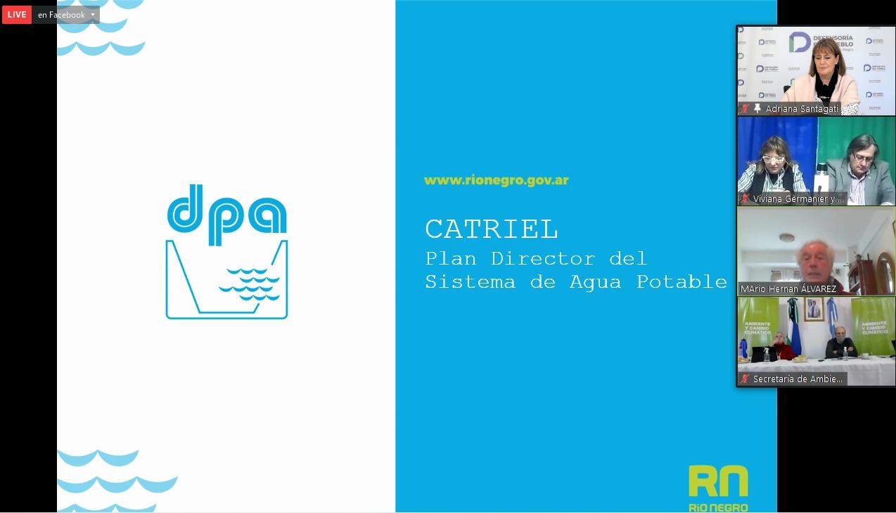 Plan Director de Agua Potable para Catriel: Santagati participa en la Audiencia Pública de evaluación del Impacto Ambiental
