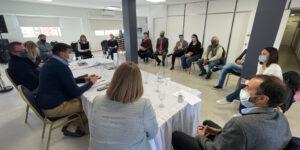 Reunion en Cipolleti por obra de Ciclovia