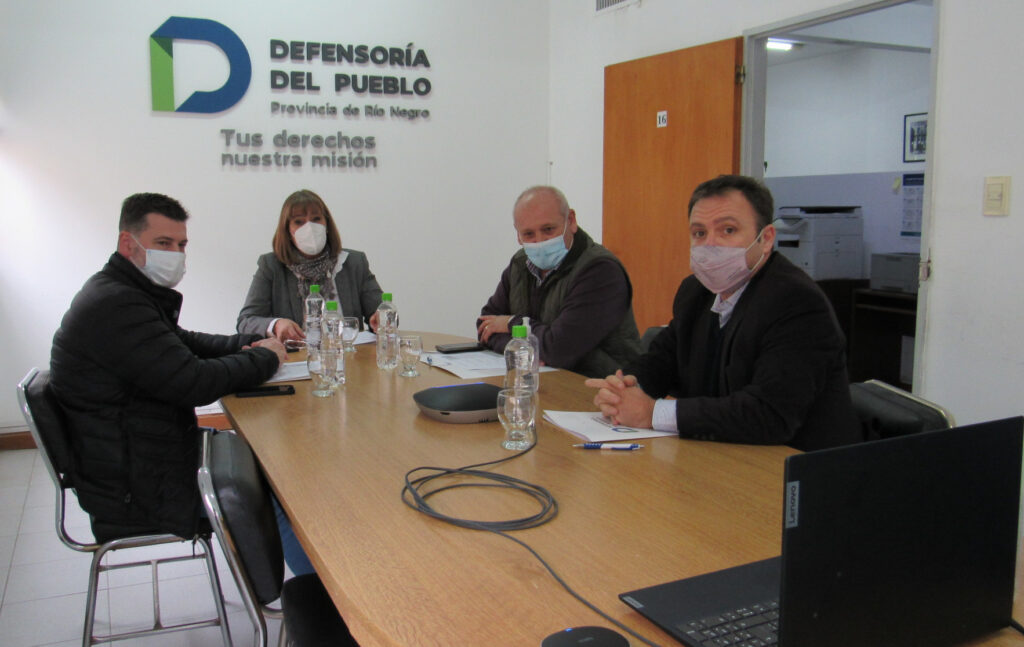 Reunion Defensoria y ministros por tema Salud mental en Rio Negro